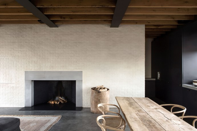 fireplace at the apartment by graanmarkt 13. architecture by vincent van duysen. photography by frederik vercruysse. antwerp