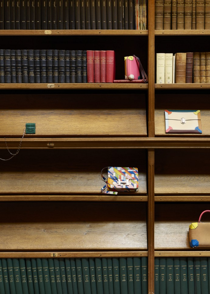 Accessories at the library of the Rijksmuseum Amsterdam for Le Monde d'Herm�s
