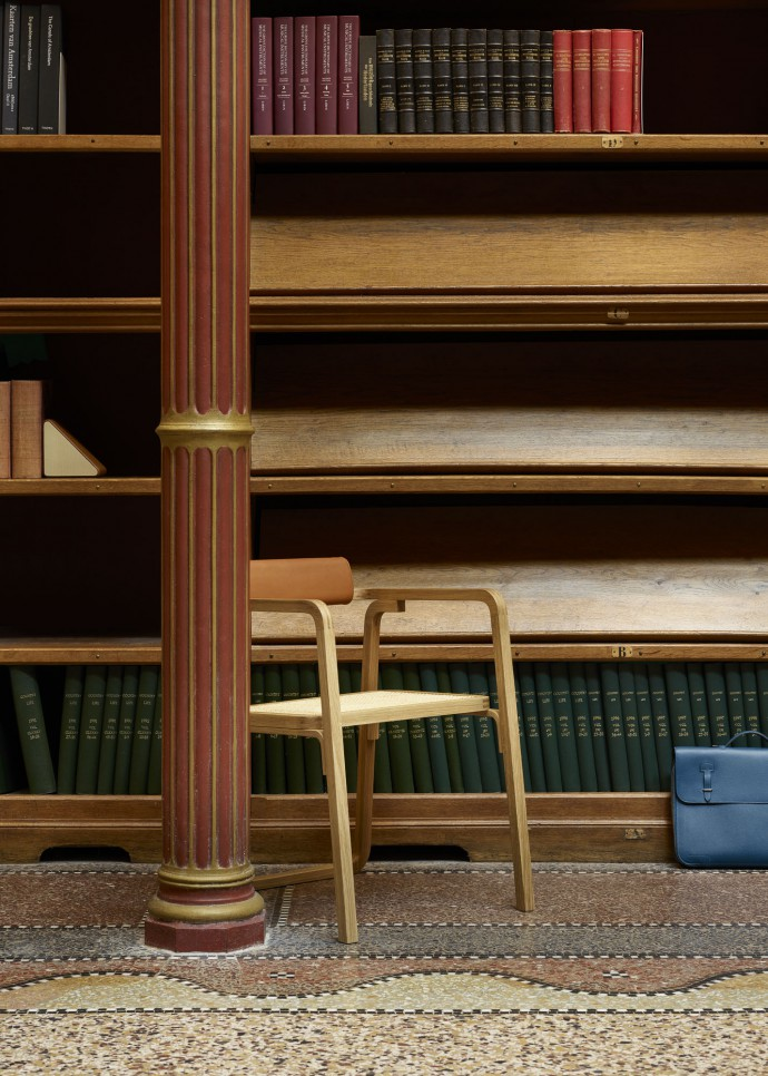 Herm�s chair at the library of the Rijksmuseum Amsterdam for Le Monde d'Herm�s
