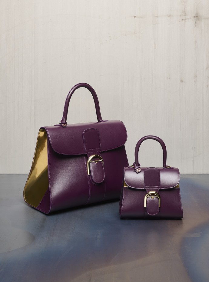 Delvaux, Brillant GM Biface, Box Calf and Brillant Mini