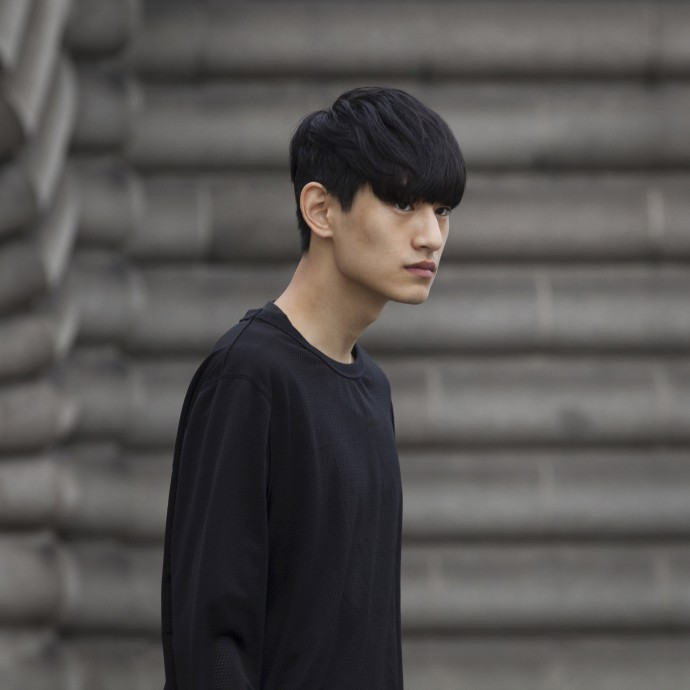 male model at kenzo show by frederik vercruysse