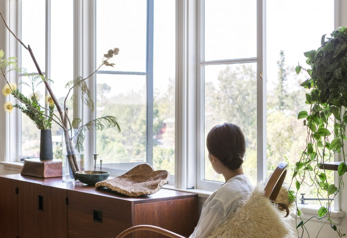 Black Crane founder Momoko Suzuki at home in Pasadena, LA