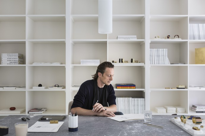 Rapha�l Van Gend in his studio. Portrait by Frederik Vercruysse for T magazine